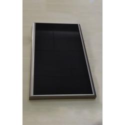 Дверь нижняя в сборе со стеклом к мод. 51а black/silver